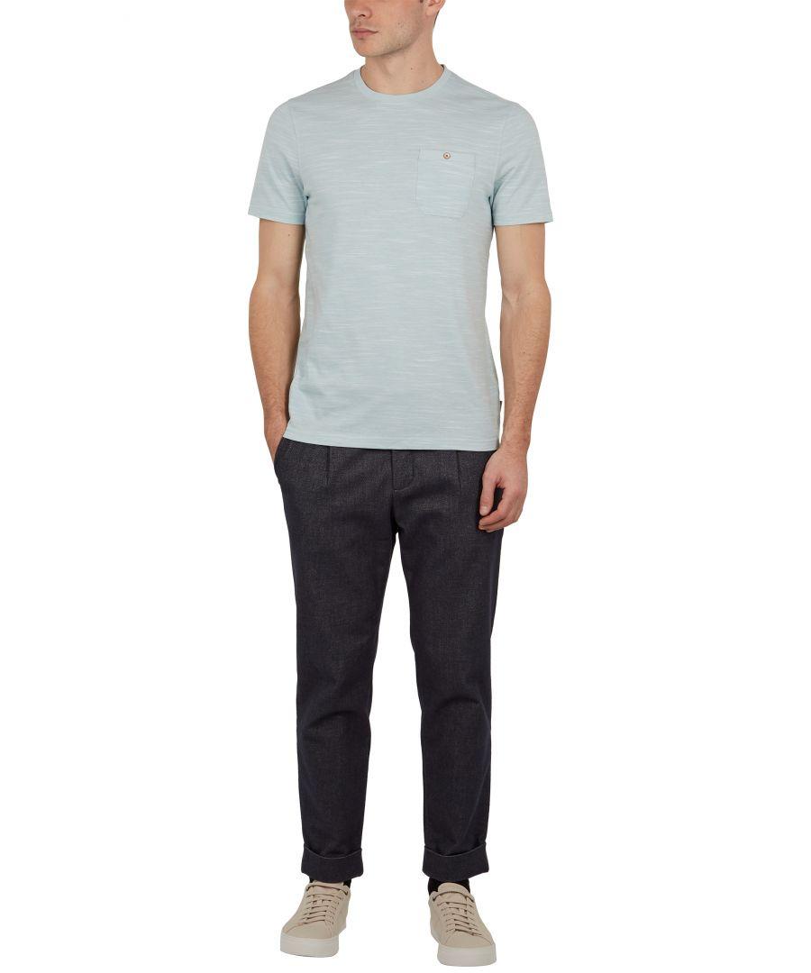 Image for Ted Baker Skales Short-Sleeved Slub Look Tee, Light Green