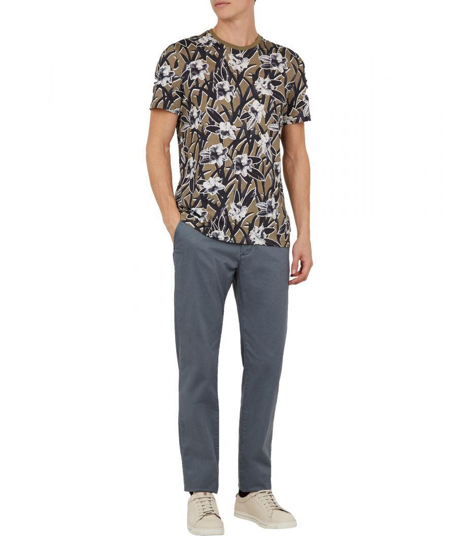 Image for Ted Baker Sladrid Printed Chino, Blue