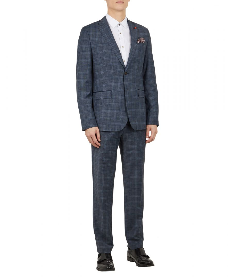 Image for Ted Baker Tootro Check Trouser, Blue