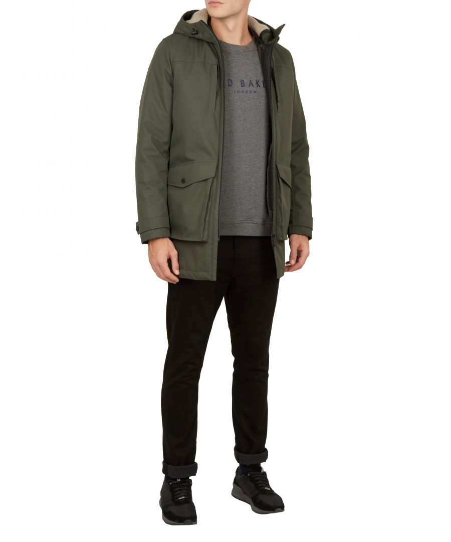 Image for Ted Baker Vinny Parker With Removeable Gillet, Green