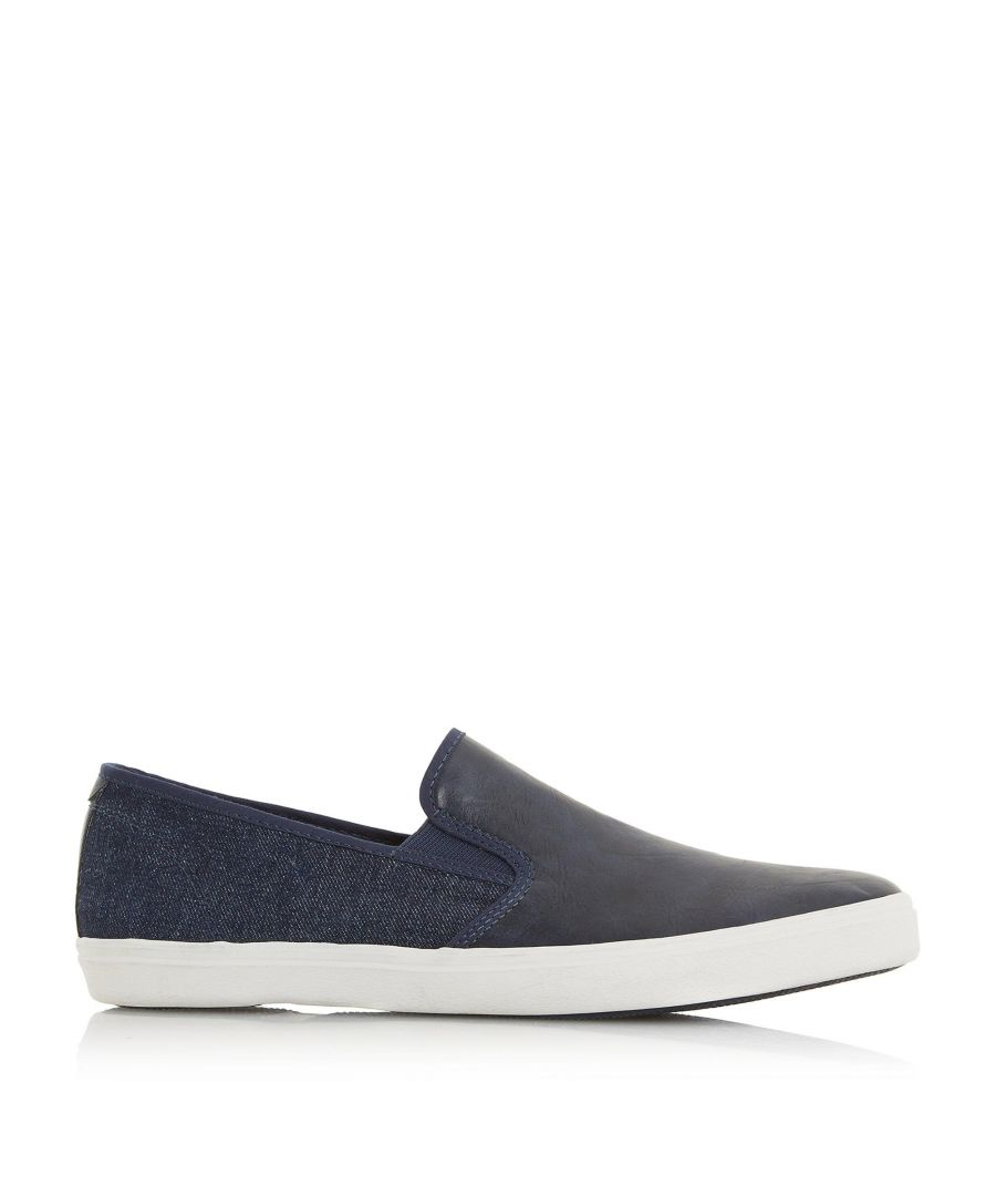 Image for Dune Mens THIERRY Canvas Contrast Slip On Trainer