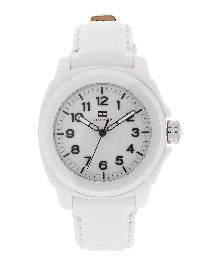 Image for Tommy Hilfiger 1781182 Sport White Leather Ceramic Watch
