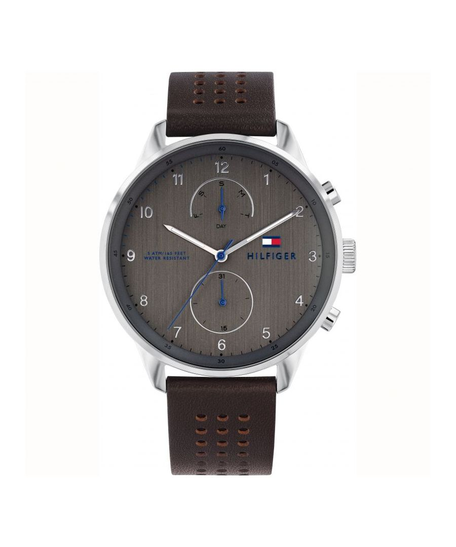 Image for Men's Grey Multi Function Tommy Hilfiger Watch
