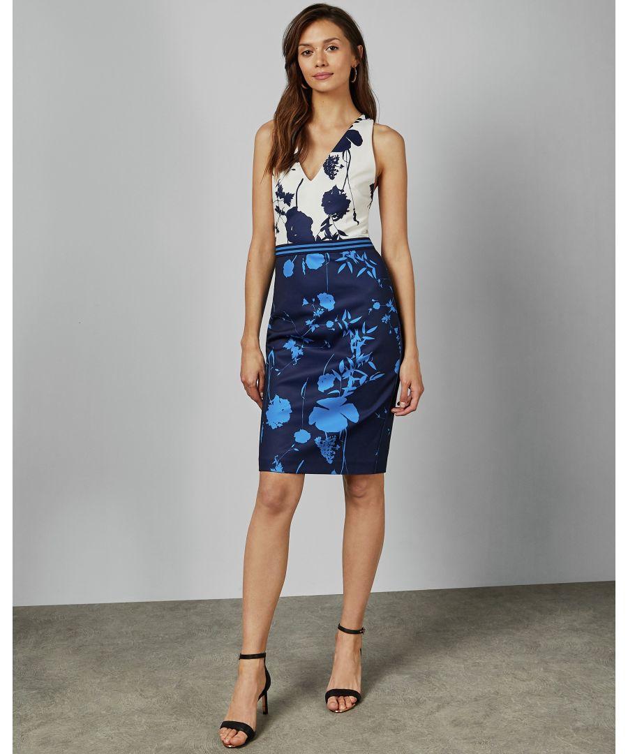 Image for Ted Baker Tilliai Bluebell Bodycon Dress, Dark Blue
