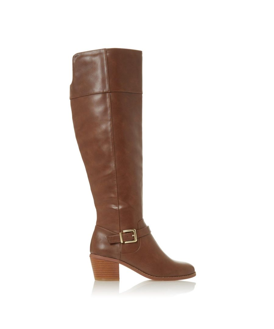 Image for Head Over Heels Ladies TINSLEYY Buckle Detail Over The Knee Boots  3