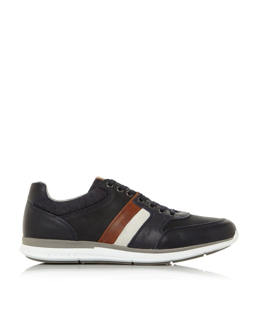 Image for Dune Mens TOKEN Stripe Lace Up Trainers