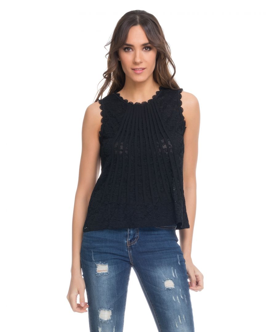 Image for Sleeveless Lace Top
