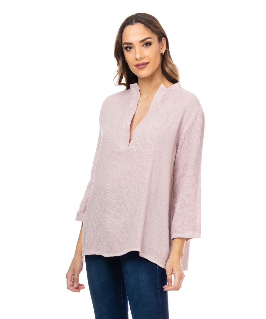 Image for V neck long sleeves top