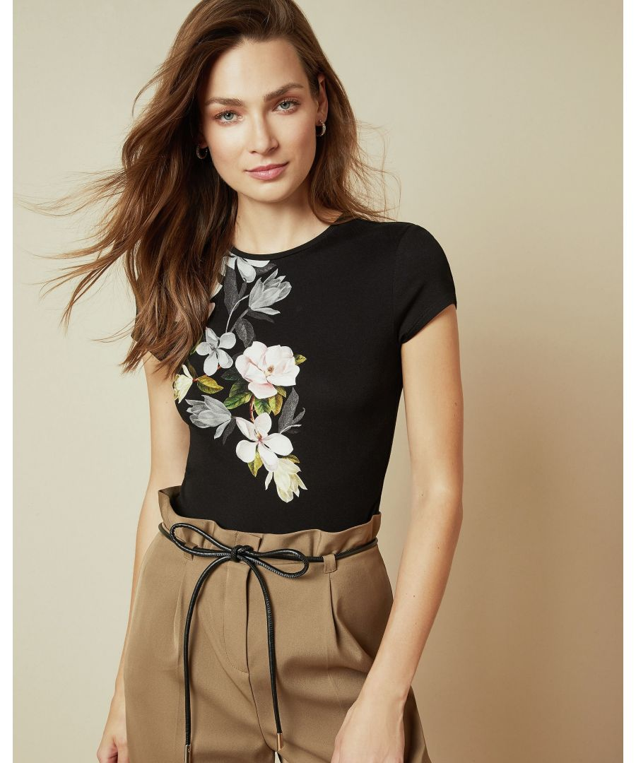 Image for Ted Baker Torina Opal Printed Fitted Tee, Black