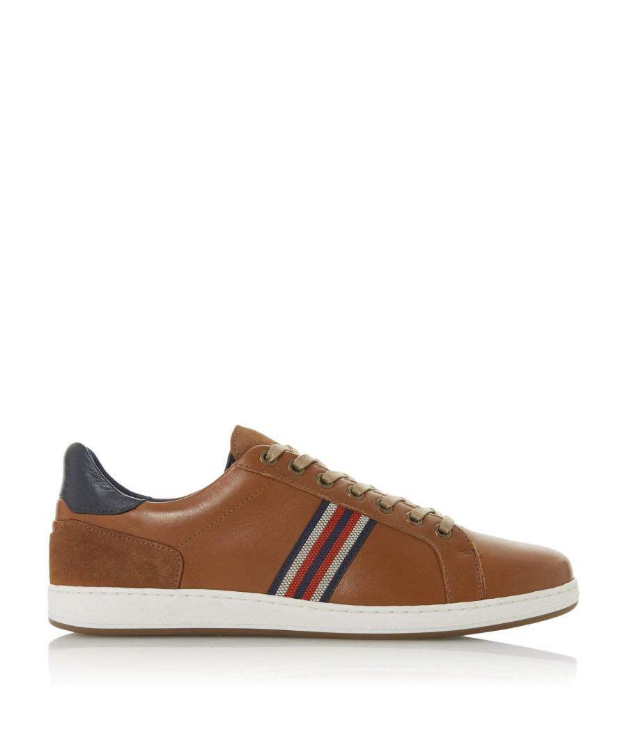 Image for Dune Mens TORONTOS Embroidered Stripe Trainers
