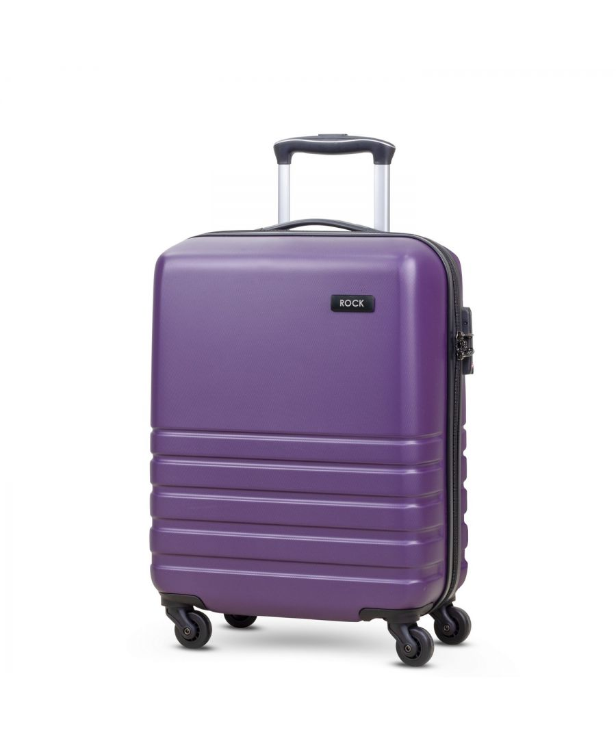 Image for Byron 55cm Cabin Hardshell 4 Wheel Spinner Suitcase Purple