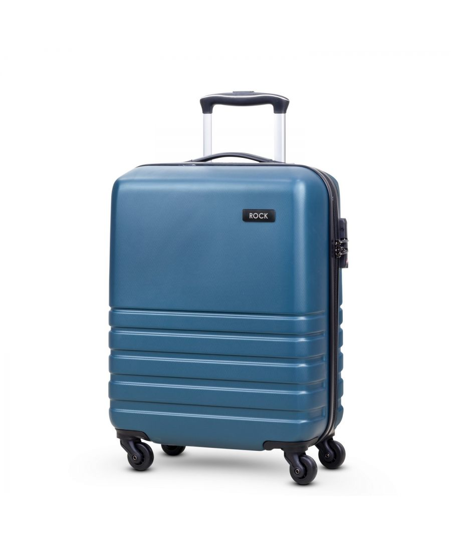 Image for Byron 55cm Cabin Hardshell 4 Wheel Spinner Suitcase Teal