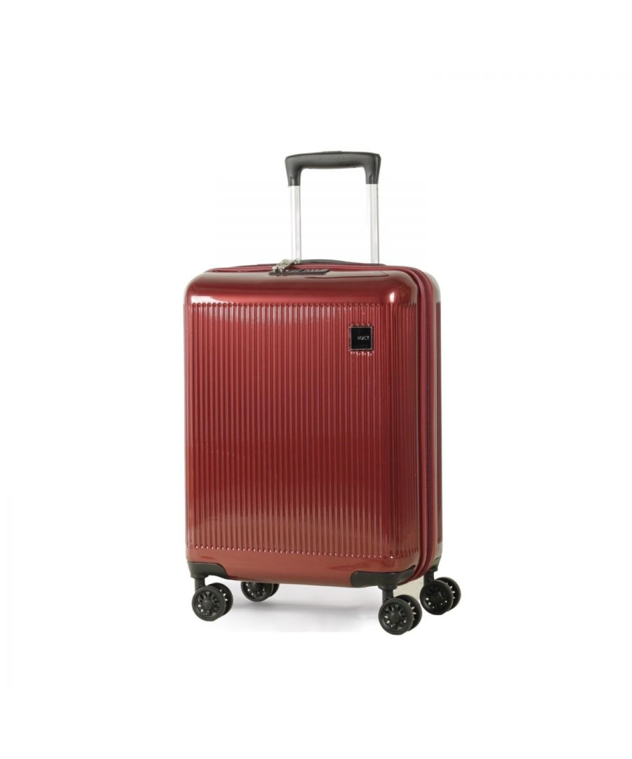 Image for Windsor 55cm Cabin Hardshell 8 Wheel Spinner Suitcase Burgundy