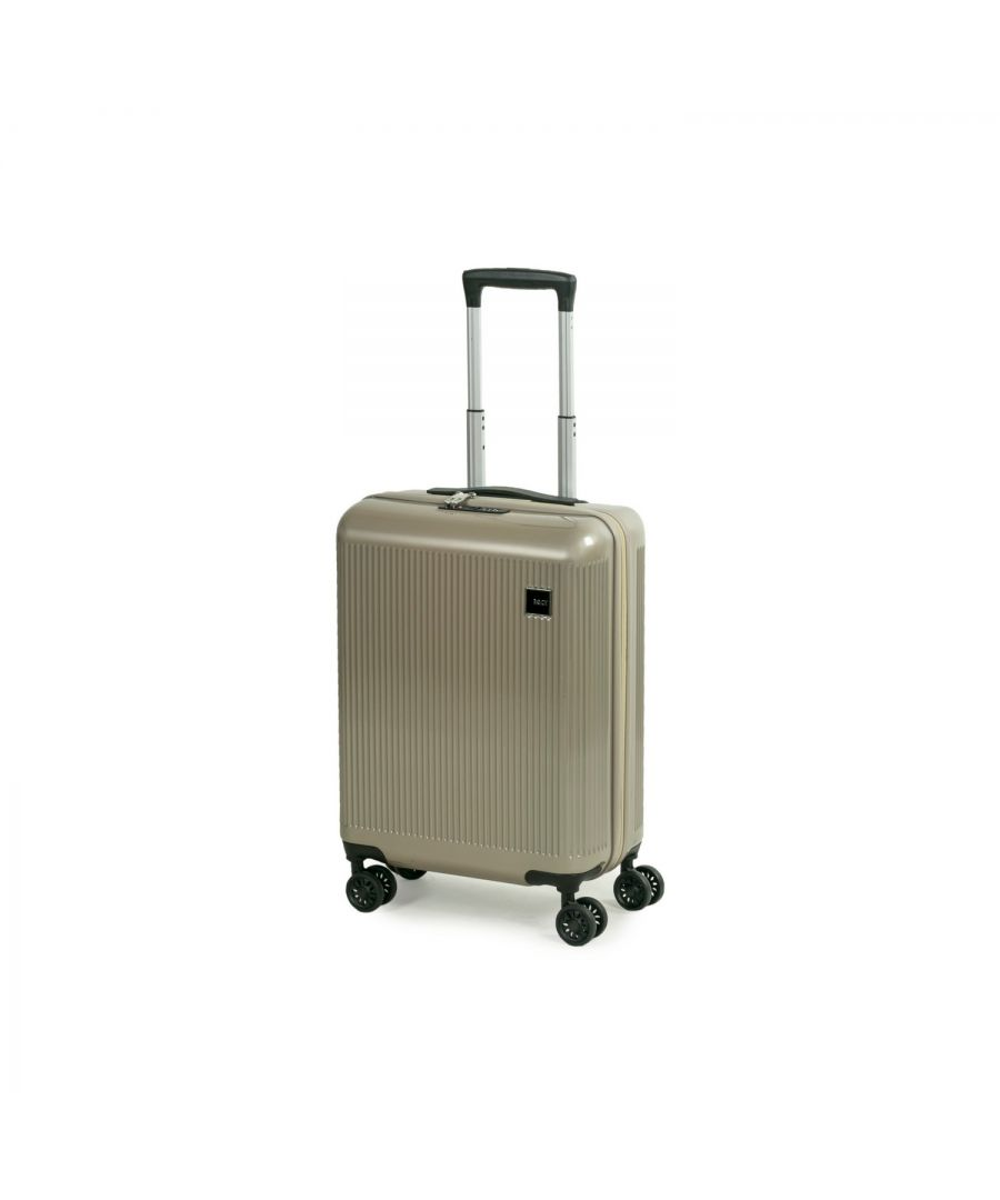 Image for Windsor 55cm Cabin Hardshell 8 Wheel Spinner Suitcase Champagne