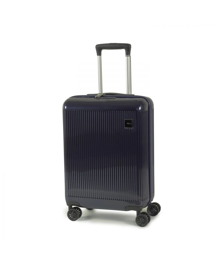 Image for Windsor 55cm Cabin Hardshell 8 Wheel Spinner Suitcase Navy