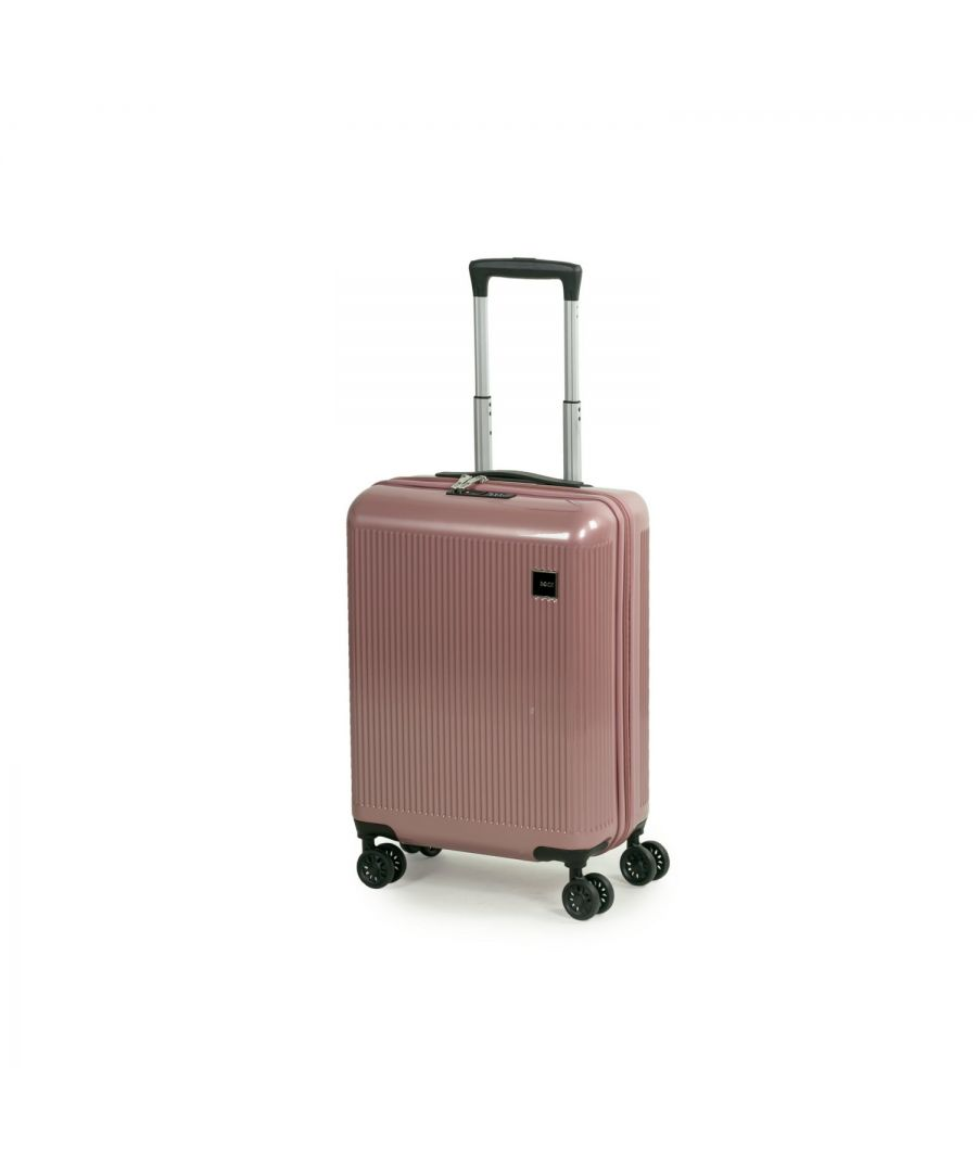 Image for Windsor 55cm Cabin Hardshell 8 Wheel Spinner Suitcase Rose Pink