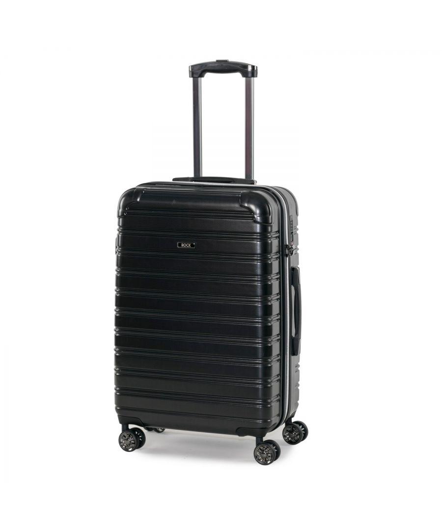 Image for Rock Chicago 68cm Hardshell Medium Suitcase Black