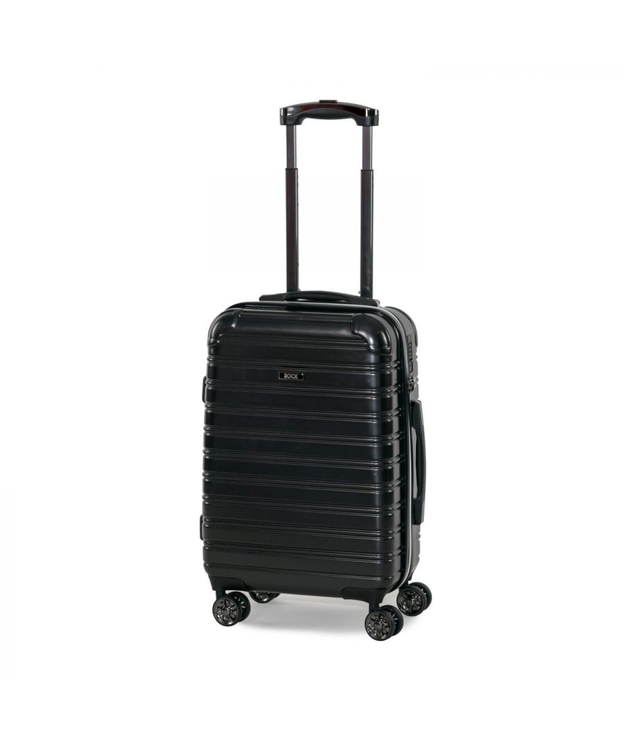 Image for Rock Chicago 56cm Cabin Size Hardshell Suitcase Black
