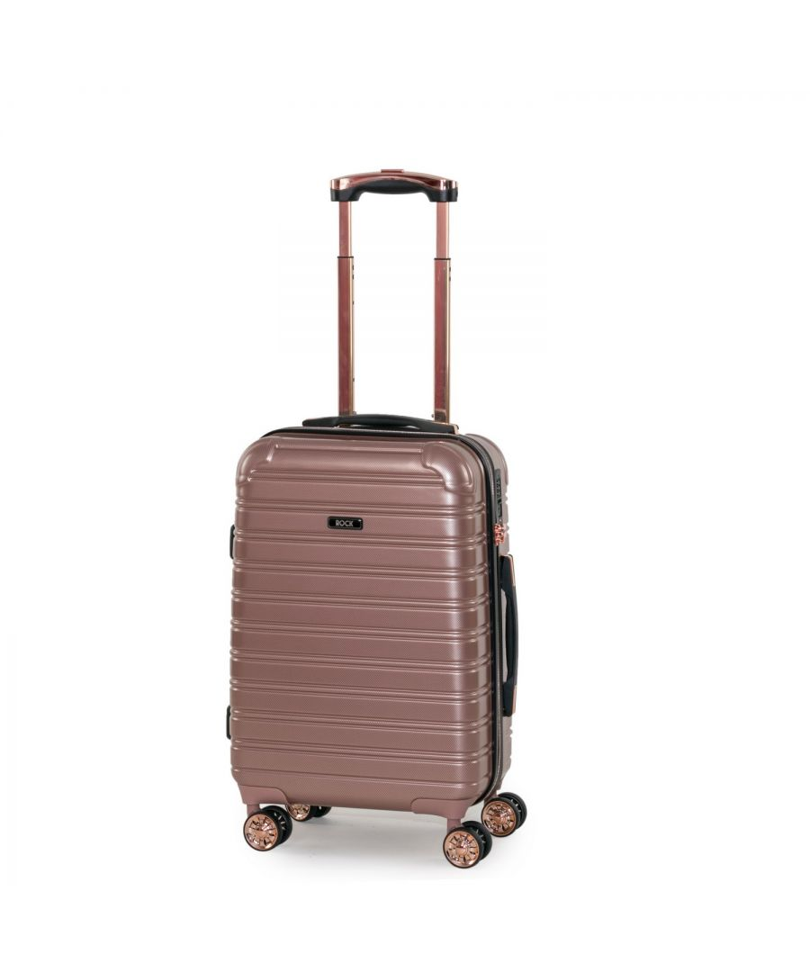 Image for Rock Chicago 56cm Cabin Size Hardshell Suitcase Rose Pink