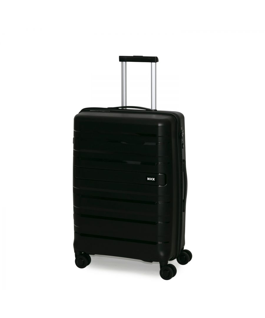 Image for Rock Skylar 67cm Hardshell Medium Suitcase Black