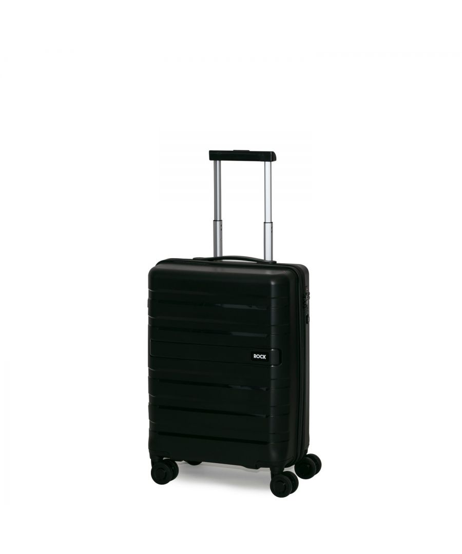 Image for Rock Skylar 55cm Cabin Size Hardshell Suitcase Black