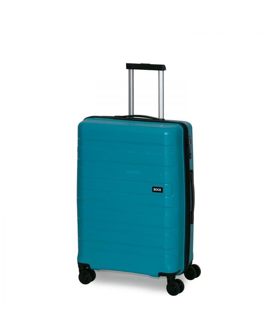 Image for Rock Skylar 67cm Hardshell Medium Suitcase Blue