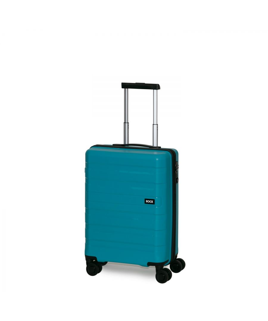 Image for Rock Skylar 55cm Cabin Size Hardshell Suitcase Blue