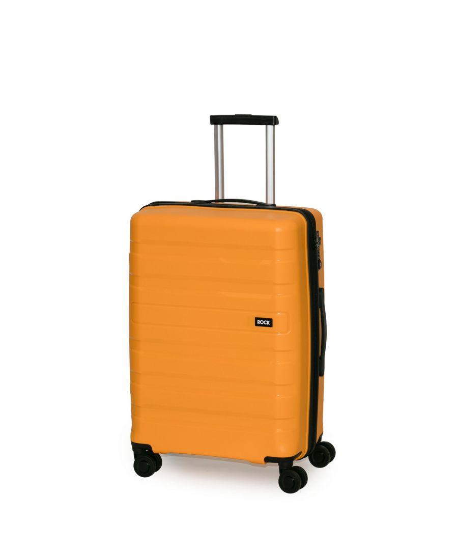Image for Rock Skylar 67cm Hardshell Medium Suitcase Yellow