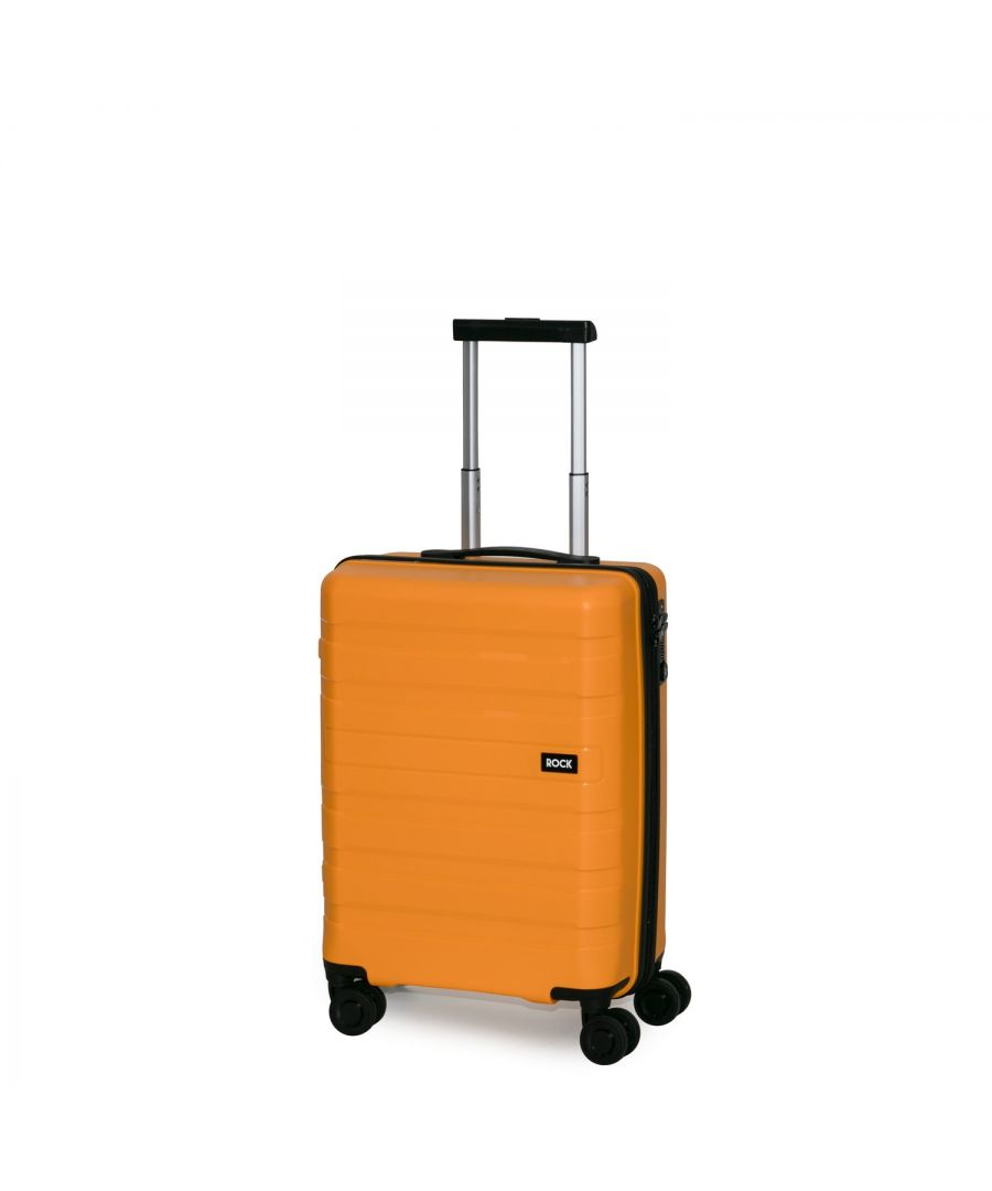 Image for Rock Skylar 55cm Cabin Size Hardshell Suitcase Yellow