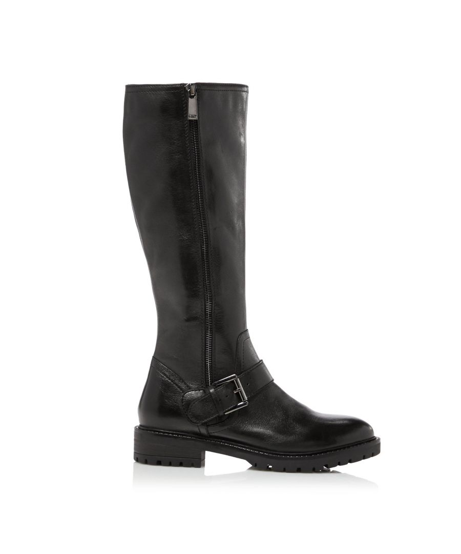 Image for Dune Ladies TRAFALGAR T Buckle Strap Knee High Boots