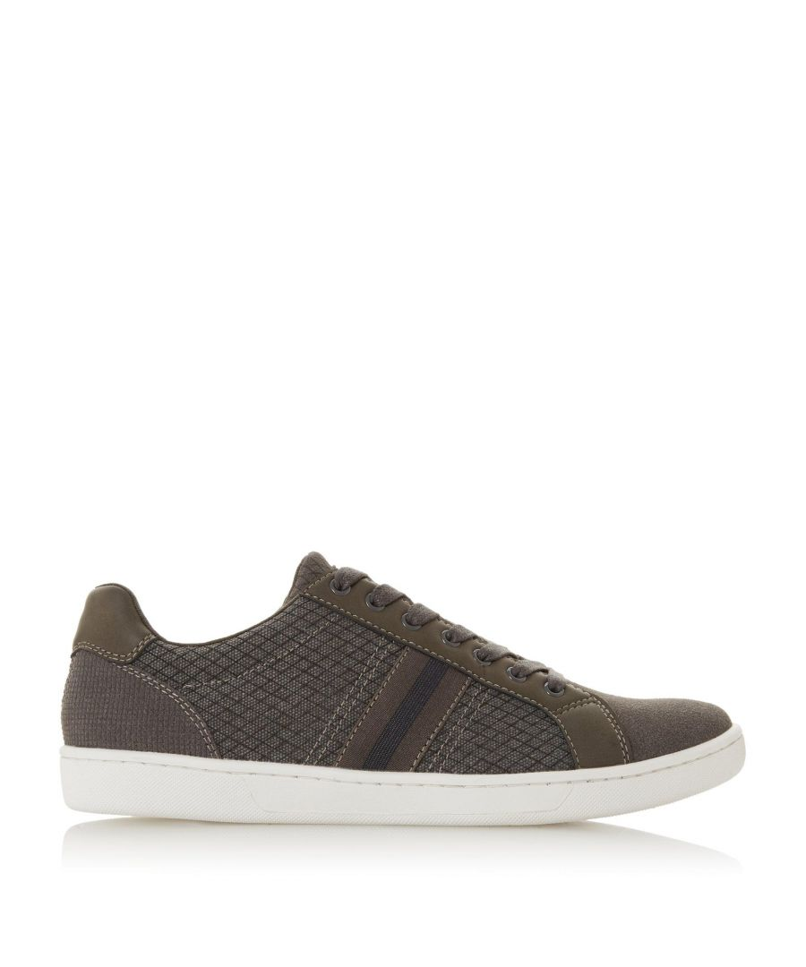 Image for Dune Mens TREMOR Stripe Detail Lace Trainers