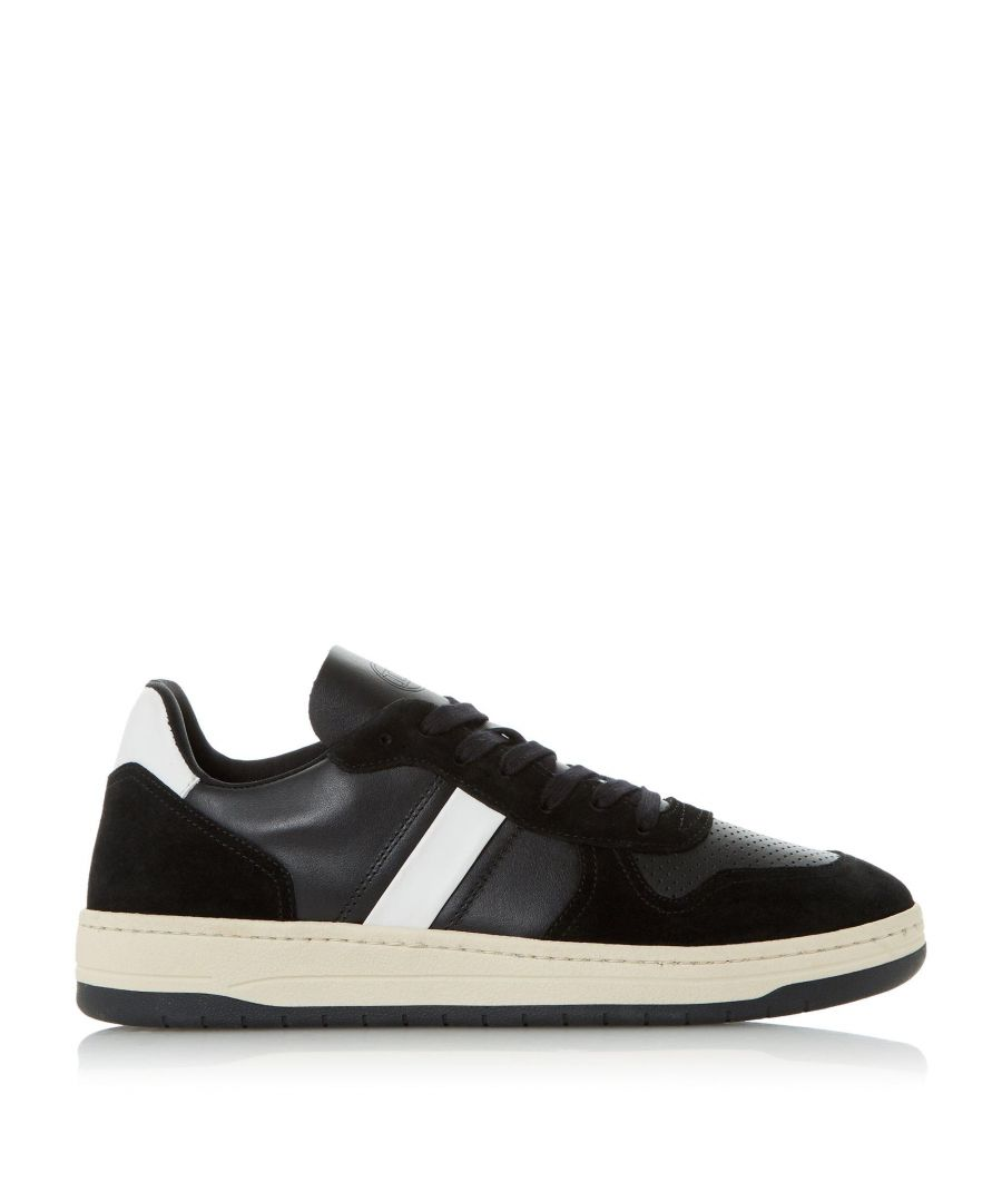 Image for Dune Mens TRICK Stripe Leather Trainer