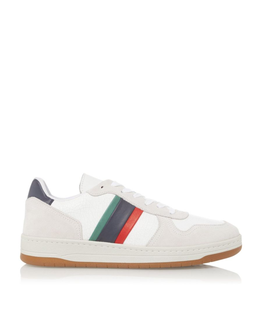 Image for Dune Mens TRICKERY Stripe Side Trainers