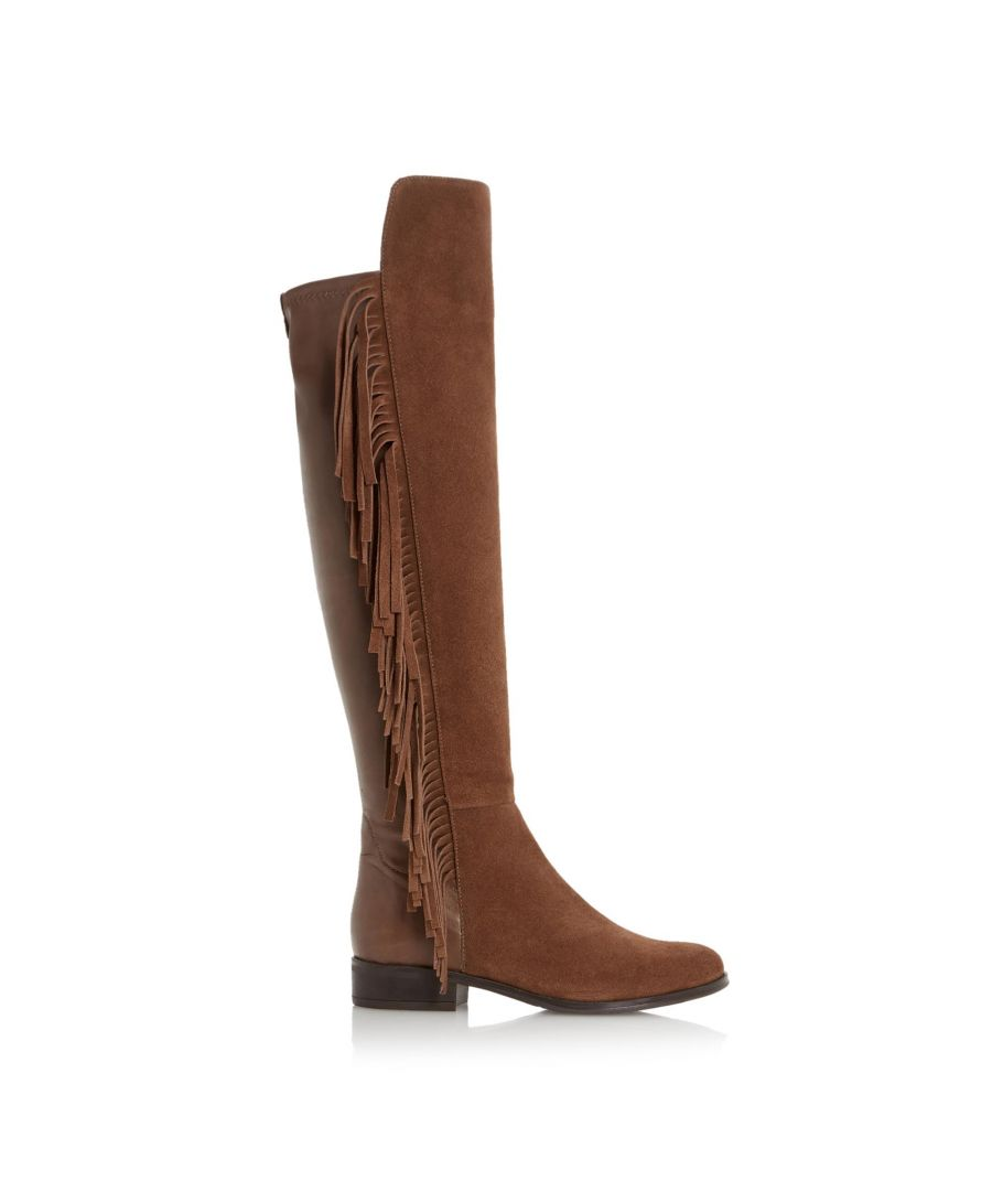 Image for Dune Ladies TRISH RODEO Fringed Over The Knee Boots