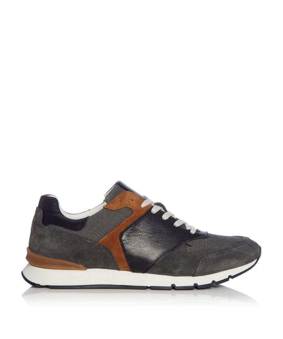 Image for Dune Mens TUPELO Mixed Material Trainers