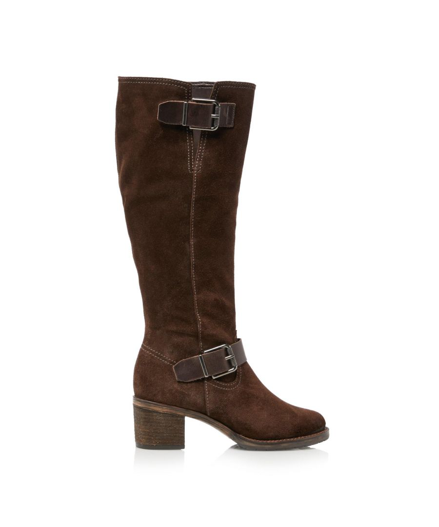 Image for Dune Ladies TWIGGIE Double Buckle Knee High Boots