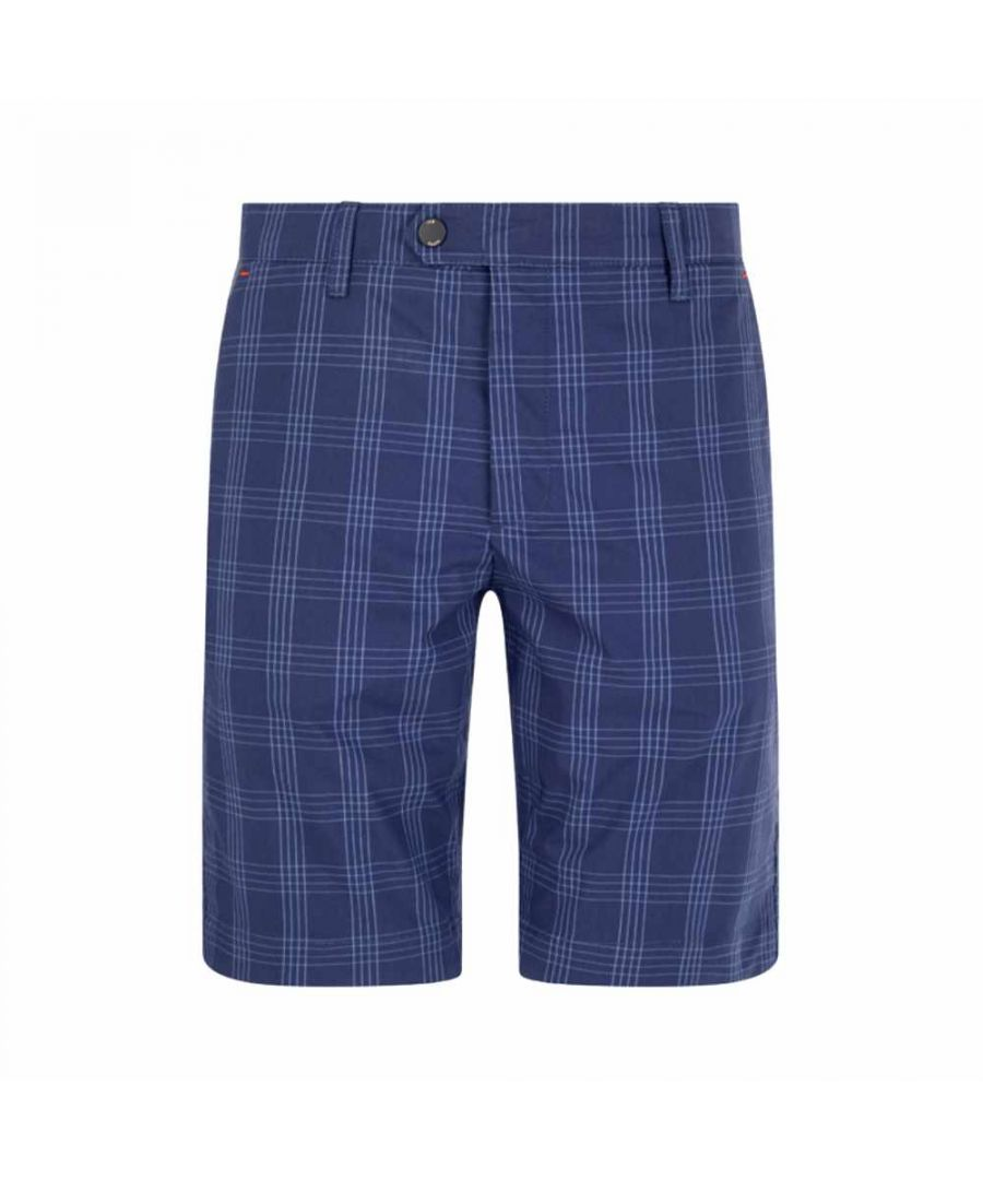 Image for Ted Baker Twopak Checked Golf Short, Navy