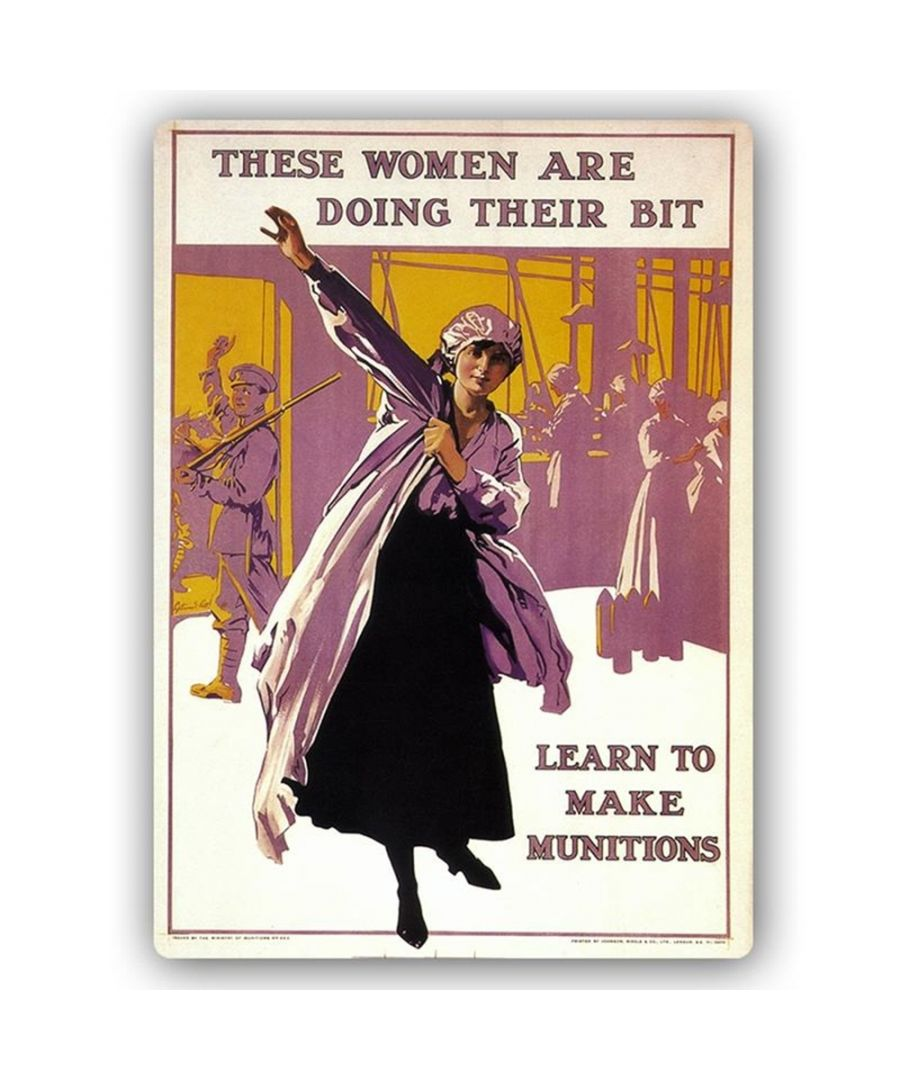 Image for Vintage War Propaganda Poster - Metal Print  - These Women Are Doing Their Bit