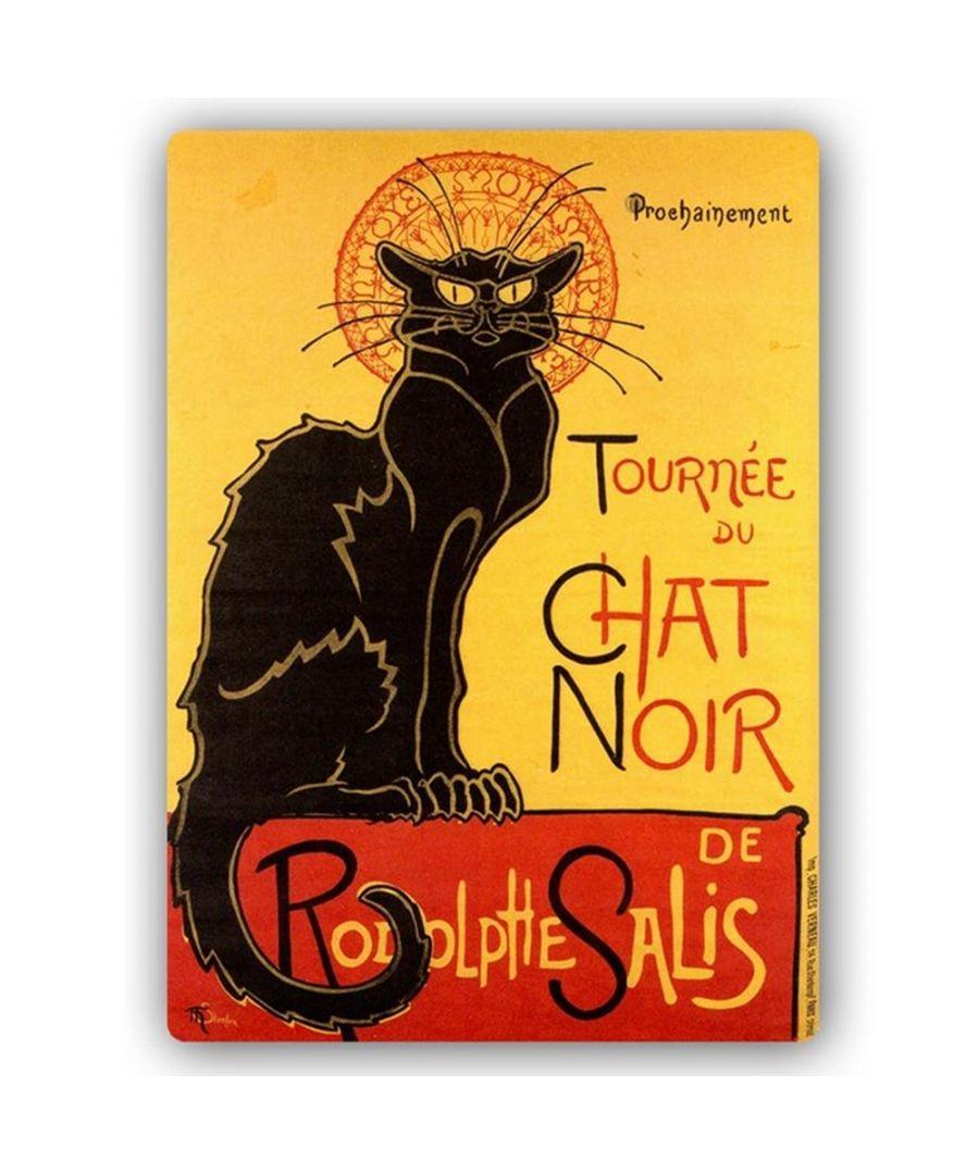 Image for Vintage Artistic Poster - Metal Print  - Tournée Du Chat Noir