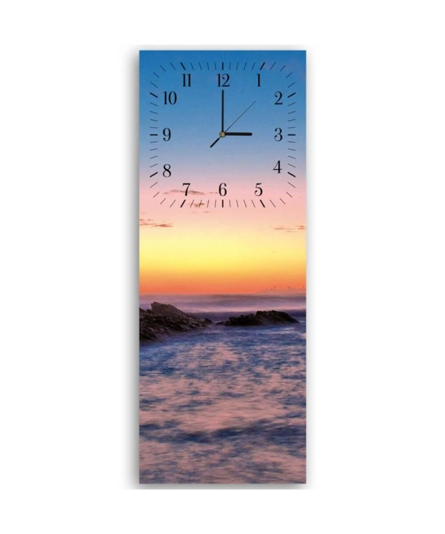 Image for Wall Clock - Sunset On The Sea Cm. 30x90