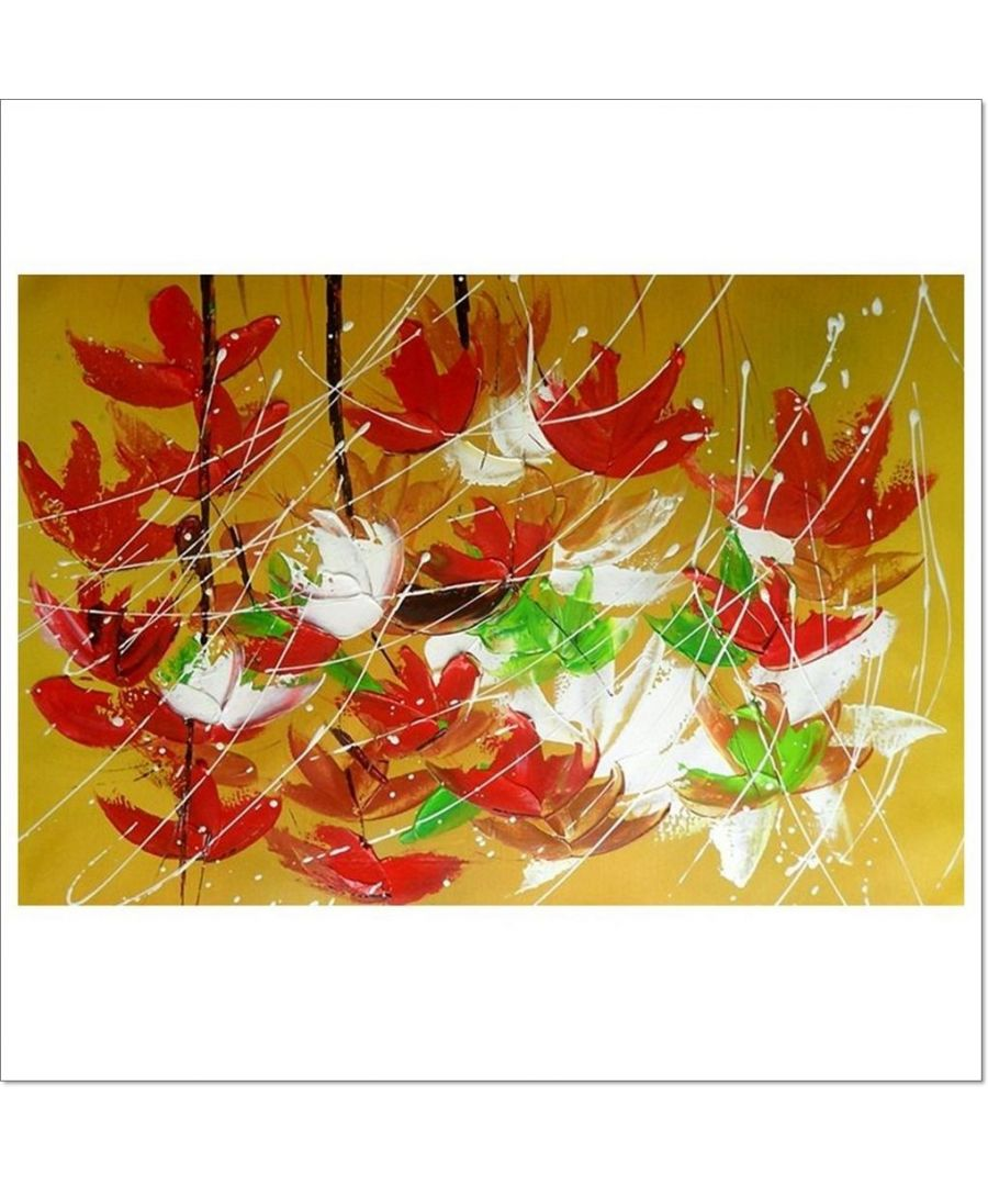 Image for Oil Painting - Tricolour Of Falling Leaves Cm. 60x90