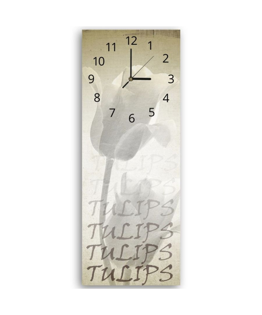 Image for Wall Clock - White Tulip Cm. 30x90