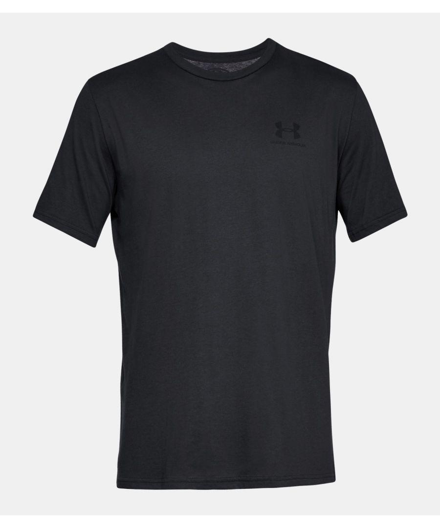 Image for Under Armour Men's Sportstyle Left Chest Short Sleeve Shirt, Black