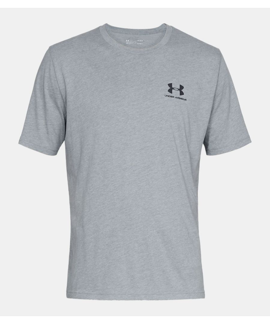 Image for Under Armour Men's Sportstyle Left Chest Short Sleeve Shirt, Grey