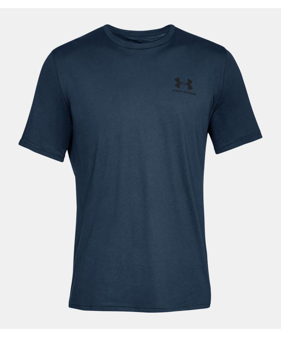 Image for Under Armour Men's Sportstyle Left Chest Short Sleeve Shirt, Navy