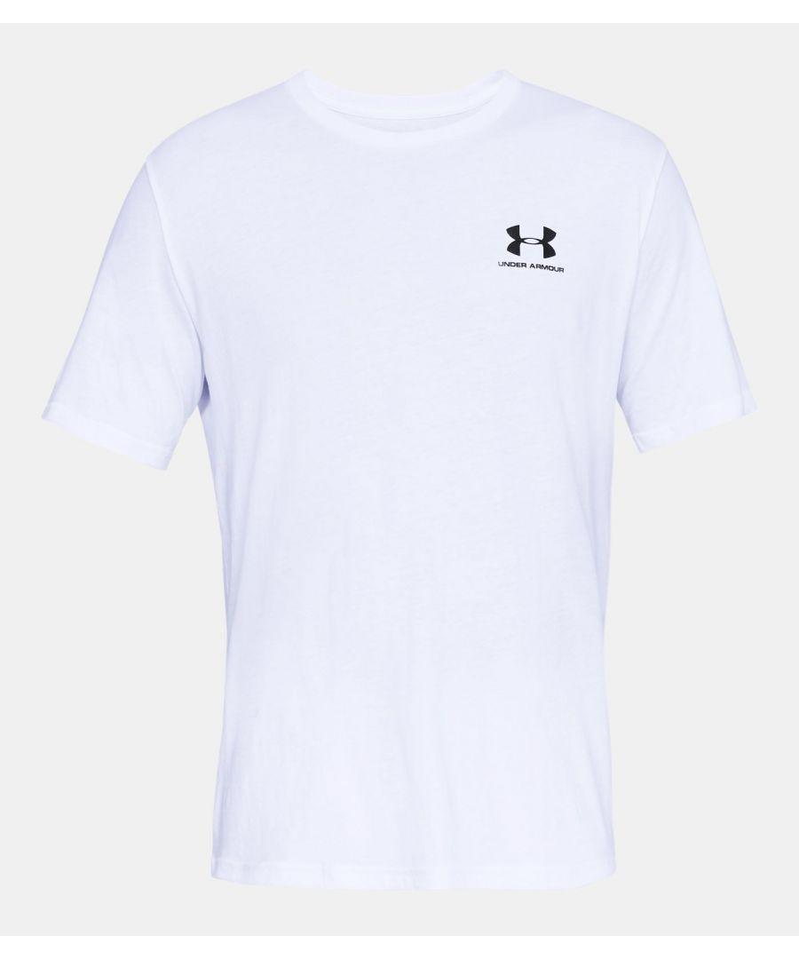 Image for Under Armour Men's Sportstyle Left Chest Short Sleeve Shirt, White