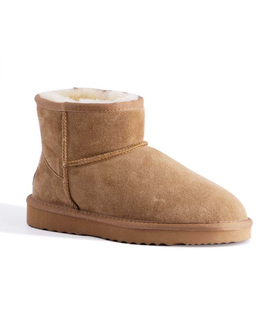 Image for Aus Wooli Australia Short Sheepskin Ankle Boot Bondi Tan