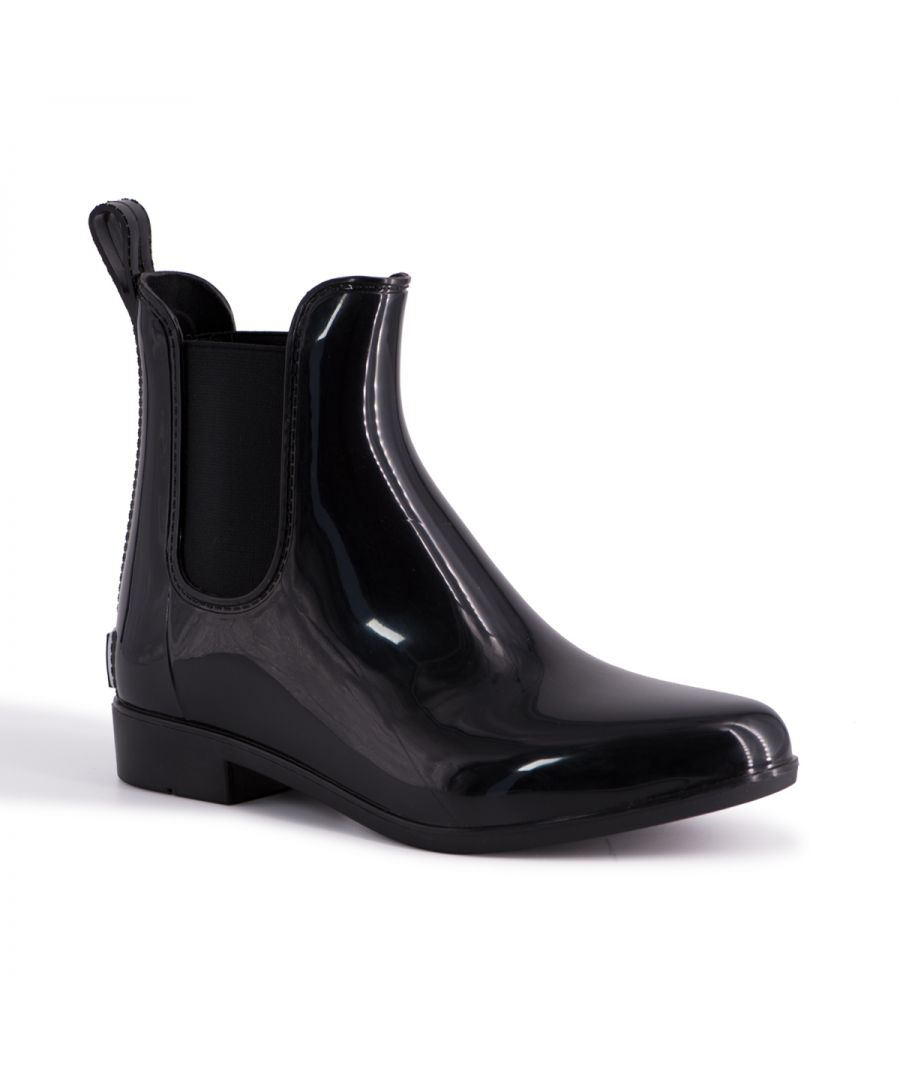 Image for Aus Wooli Australia Womens Rainboots With Sheepskin Insole Included BLACK