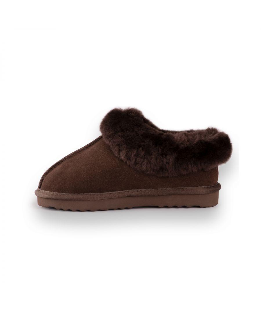 Image for Aus Wooli Australia Unisex Sheepskin Wool Traditional Ankle Slippers