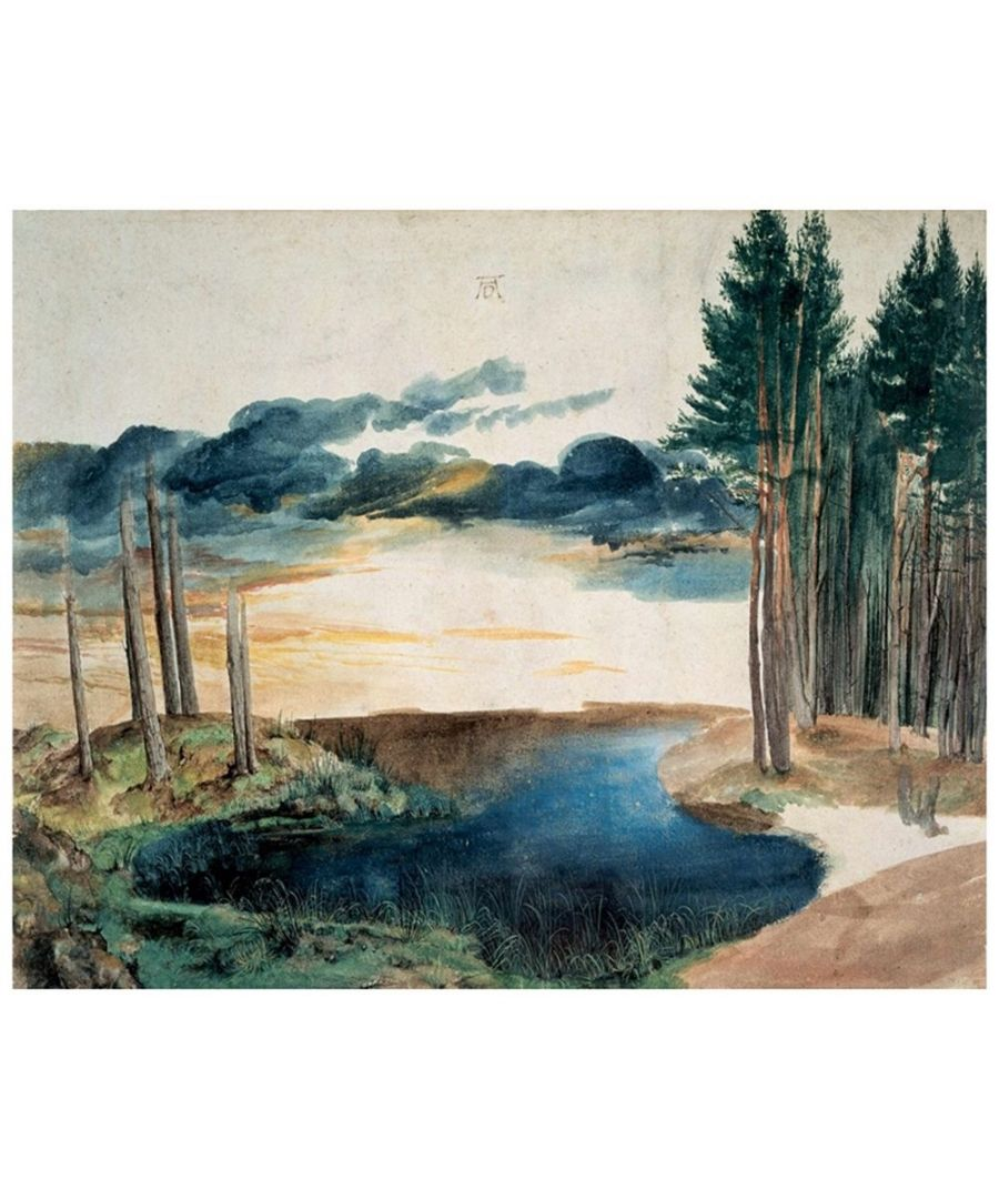 Image for Canvas Print - Pond In The Woods - Albrecht Dürer Cm. 80x100
